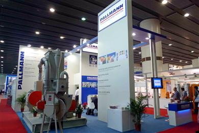 Pallmann agglomerating installation, an environmentally friendly process successfully displayed at the Chinaplas 2011.