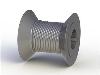 Load bearing winch drum from Deep Tek with patented spooling pattern. (Photo Deep Tek, DYNPR293)