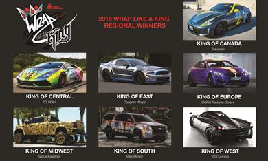 "Seven regional winners named in Avery Dennison ""Wrap Like a King"" Challenge. (Photos: Avery Dennison, PR316)"