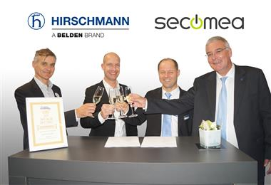 Hirschmann and Secomea sign partnership agreement for innovative remote access solutions.