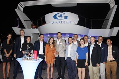 Turkey's glass industry took to the water on September 18th.<br>(Photo Guardian Industries Corp., GRDPR011)