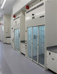 Large Walk-in Fume Hoods in SiVance's New Research and Development Laboratory.
