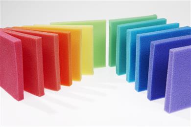 Reactint® colorants in PU foam.