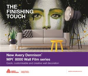 Avery Dennison® launches new Digital Wall Film portfolio with three new textures. 