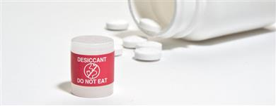 Clariant Desiccant Canisters with Red Labels Help Enhance Packaging Safety. <br>(Photo: Clariant)