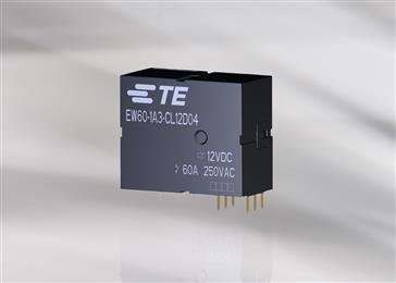 New EW60 power relay supports demand for higher switching capability. <br>(Source: TE Connectivity, PR064)