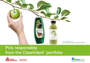New Avery Dennison ClearIntent™ portfolio enables sustainability improvements.
