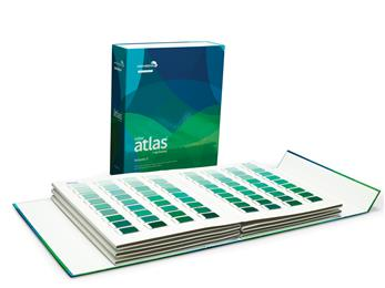 Color Atlas by Archroma®, a library of 4,320 color swatches, in six volumes. 