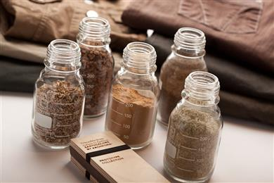 EarthColors by Archroma, a range of dyes synthesized from agricultural waste. (Photo: Archroma)