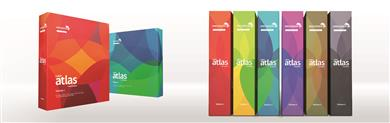 The Color Atlas by Archroma® comprises 6 volumes organized by color group. <br>(Photo: Archroma)