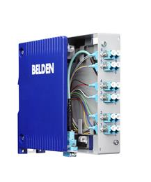 Belden simplifies fiber termination with plug-and-play industrial MPO cassette. 