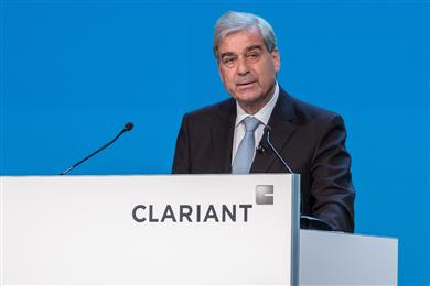 Rudolf Wehrli, Chairman of the Board of Directors, opens the 22nd Annual General Meeting of Clariant AG.<br> (Photo: Clariant)
