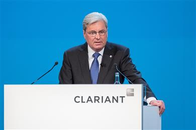 CEO Hariolf Kottmann discusses the corporate strategy.<br> (Photo: Clariant)