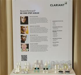 BeautyForward® Edition II samples presented at the event. <br>(Photo: Clariant)