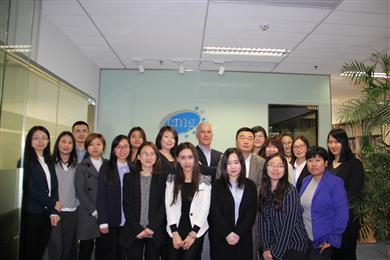 EMG China opens doors for business at its new Futureland office in Shanghai's Puxi. 