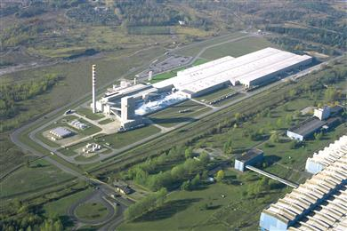 Guardian Glass' new float and coated glass plant is planned to be located adjacent to the company's existing plant in Czestochowa, Poland. <br>(Photo Guardian Industries Corp., GRDPR144)