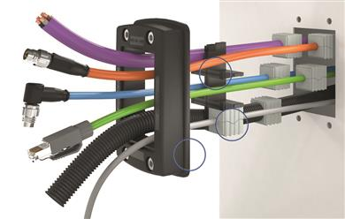 Easy assembly and fast installation: the modular cable entry system KDSClick from CONTA-CLIP with inlays and seal elements of Thermoplastic Elastomers from KRAIBURG TPE offer maximum configuration flexibility. 