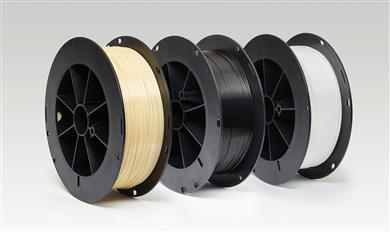 SABIC's new filaments offering directly addresses the need for greater options in the industrial filament market and targets a broad range of customer requirements. Based on the company's industry-leading ULTEM™ polyetherimide (PEI) resin, CYCOLAC™ acrylonitrile-butadiene-styrene (ABS) resin and LEXAN™ polycarbonate (PC) resin, the filaments offer the same composition as the company's injection molding grades and can be used to produce a range of high-performance, durable end-use parts.