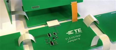 TE Connectivity's Flexstrip is a low-cost, reliable PCB jumper connector solution.<br>(Source: TE Connectivity, PR114)