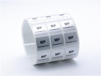 MP metalized polyester labels from TE Connectivity enable safe and flexible labeling.<br>(Source: TE Connectivity, PR218)