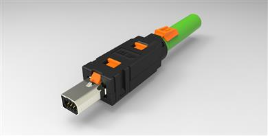 TE Connectivity developing Mini I/O connector system with Cat6A technology. <br>(Source: TE Connectivity, PR223)