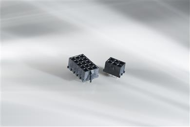 Reflow capable Universal MATE-N-LOK connectors.<br>(Source: TE Connectivity, PR120)