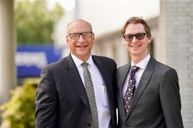 Phil McDivitt, CEO (left) and Andrew Leigh (right) director of compounding technology at Ascend Performance Materials. 