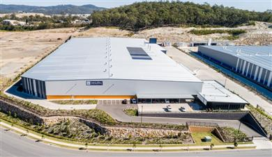 De nieuwe ultramoderne tapijtfabriek van Beaulieu Australia.