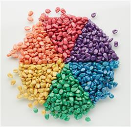 Agrocer 系列包括六种粉末颜料和颜料色浆,可以搭配出丰富多彩的定制化颜色。 (图片提供:科莱恩)