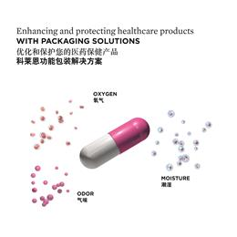 科莱恩针对医疗行业展示全套包装解决方案。 (图片提供:科莱恩)