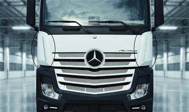 INEOS Styrolution provides best material solution for Daimler Actros trucks' aerodynamic parts.