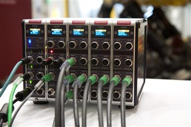 New Moog Digital Test Controller's high input/output density allows for easily configurable set ups. (Photo Moog, MGPR1707)