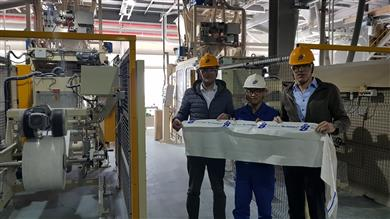 (left to right) Christian Knappik, Key Account Manager / Business Unit Chemical Industry, RPC bpi nordfolien, Hwasik Jung, Ulsan Plant Manager & Cord Manegold, Global Business Manager Main AO's and Blends.