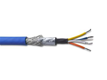 TE Connectivity launches a cross linked ruggedized Cat5e rail data cable for use on both on board and trackside applications. (Source: TE Connectivity, PR240)