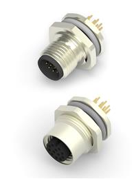 TE Connectivity adds to M12 range with connectors for PCBs and panels. 