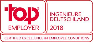 TE Connectivity recognized as outstanding employer in Germany by the Top Employers Institute. (Source: TE Connectivity, PR259)