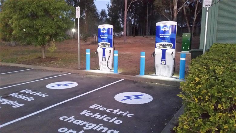 Australia Hits the 50th Public Electric Vehicle DC Fast Charging Site Milestone.  (Image courtesy Tritium, PR012)
