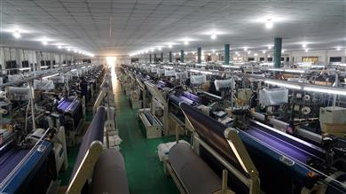Weaving machine at Vietnam-based Tuong Long, the first denim manufacturer in Vietnam to switch 100% of its production to Archroma's aniline-free* Denisol® Pure Indigo. (Photo: Tuong Long)
