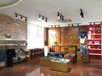 Denim show room at Vietnam-based Tuong Long, the first denim manufacturer in Vietnam to switch 100% of its production to Archroma's aniline-free* Denisol® Pure Indigo. (Photo: Tuong Long)