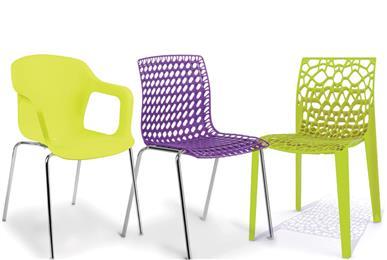Guía de tendencias ColorForward publicada por Clariant inspira una nueva línea de sillas del cliente Flexform. (Fotografía: Flexform)