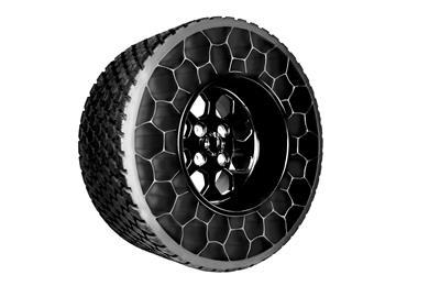 Arnitel® in non-pneumatic wheel: no more flat tires. (Photo: DSM Engineering Plastics: DSMPR515)