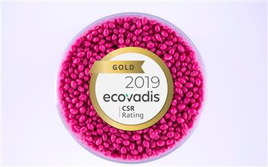 ELIX Polymers CSR Rating 2019, EcoVadis. (Photo: ELIX Polymers, PR048)