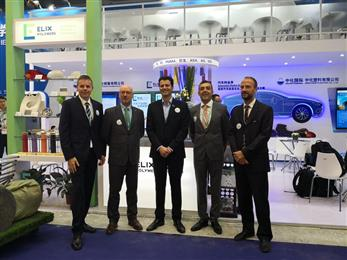 From left to right: Daniel Engel: ELIX´s Export Manager, Carlos Müller: ELIX.s Business Director, David Castañeda: ELIX´s CEO, Toni Prunera: ELIX´s Head of Quality and Business Development and Fabian Herter: ELIX´s Marketing Manager Automotive & ABS Specialties. 
