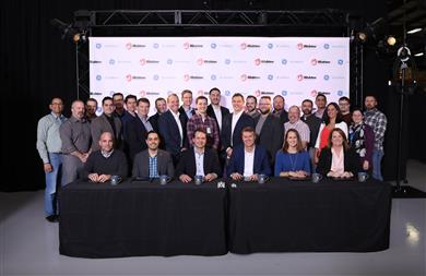 Wabtec and GE Additive Binder Jet signing ceremony. 