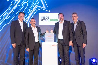 INEOS Styrolution receives Global Supplier Award 2019 from Bosch.