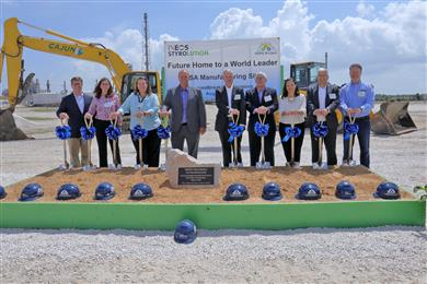 INEOS Styrolution hosts groundbreaking ceremony for its new 100kt ASA plant in Bayport, Texas.