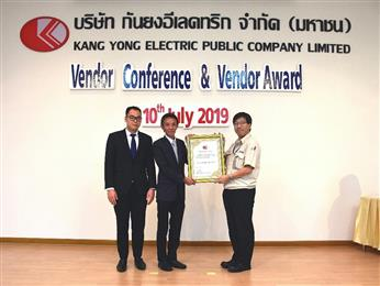 INEOS Styrolution receives Vendor Performance Award 2018 from Kang Yong Electric.