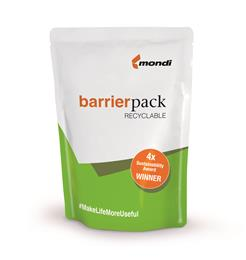 Mondi's fully recyclable packaging material, BarrierPack Recyclable, drives circular economy forward. (Photo: Mondi, PR129)