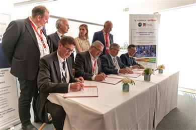 Safran, Oerlikon, CNRS and the University of Limoges create a joint research lab and technology platform for surface treatment in southwest France.  (Photo Oerlikon)