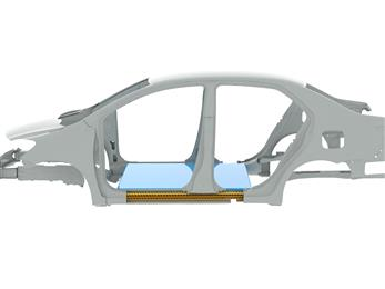 Unfilled XENOY™ HTX resin can absorb significant energy and withstand plastic deformation in the event of a crash. SABIC is targeting the material for use as a lightweight metal replacement solution in new safety applications, such as side rockers designed to offer protection for battery modules mounted to the floor of EVs.